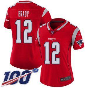 Women Patriots Tom Brady 100th Season Jersey